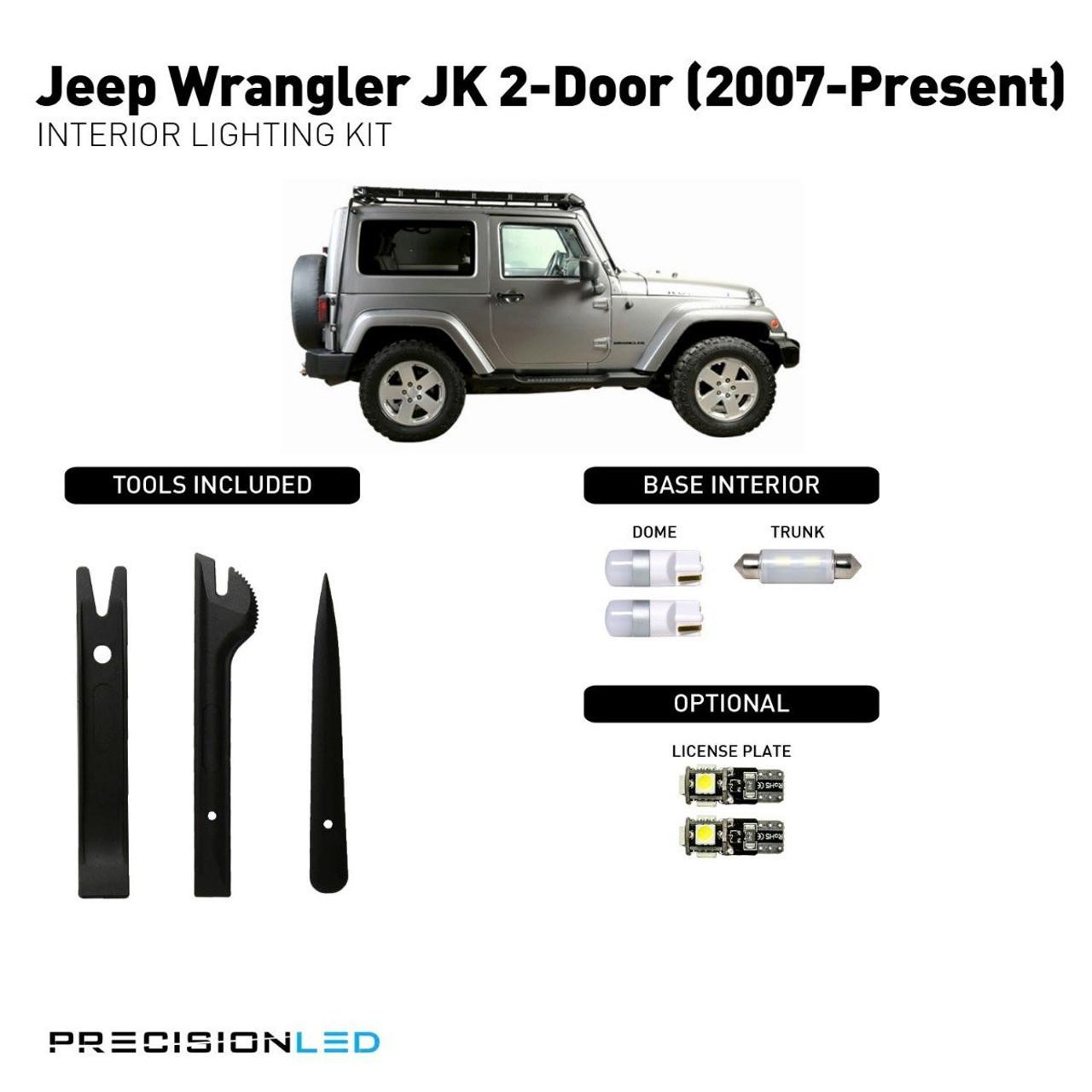 Jeep Wrangler JK 2-Door Premium LED Interior Package (2007-Present)