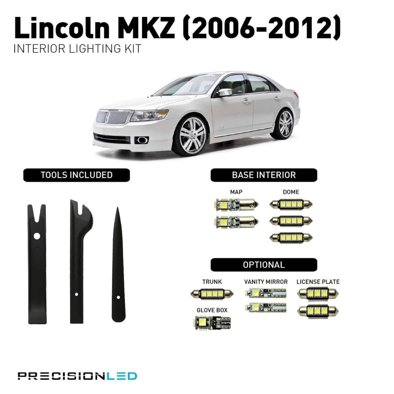 Lincoln MKZ LED Interior Package (2006-2012)