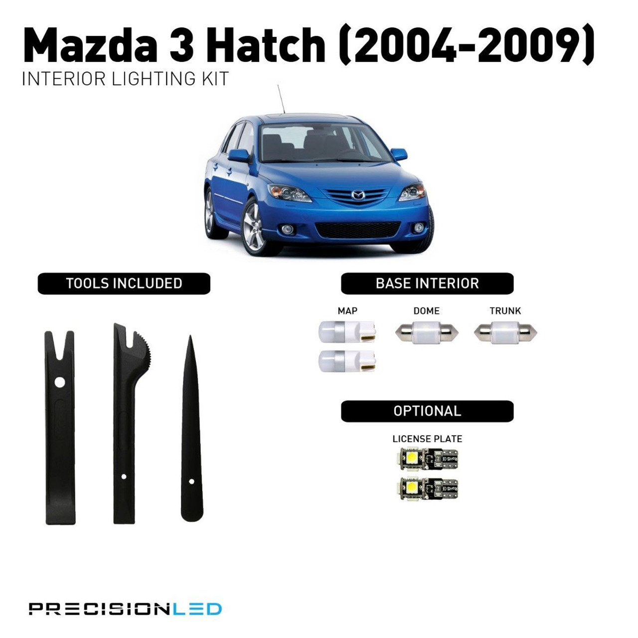 Mazda 3 Hatch Premium LED Interior Package (2004-2009)