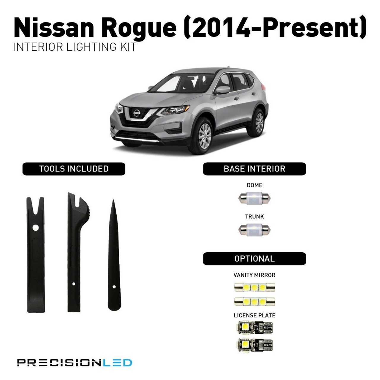 Nissan Rogue Premium LED Interior Package (2014-2015)