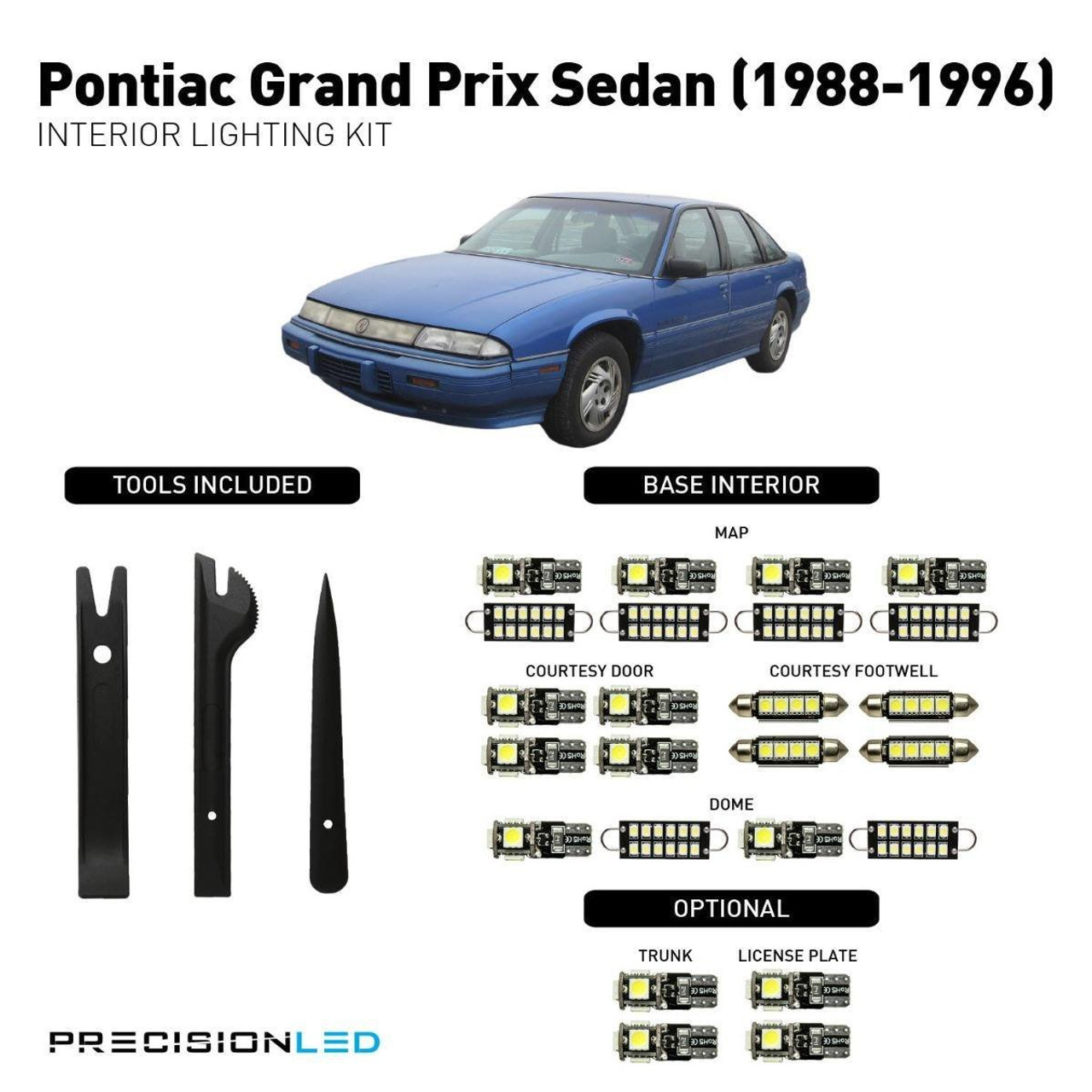 Pontiac Grand Prix Sedan LED Interior Package (1988-1996)