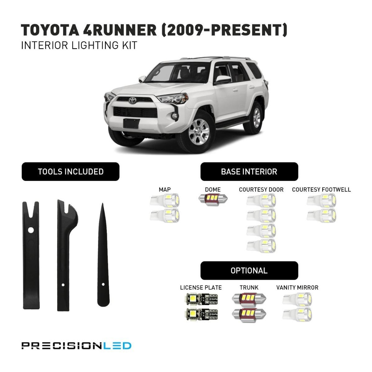 Toyota 4Runner Premium LED Interior Package (2009-Present)