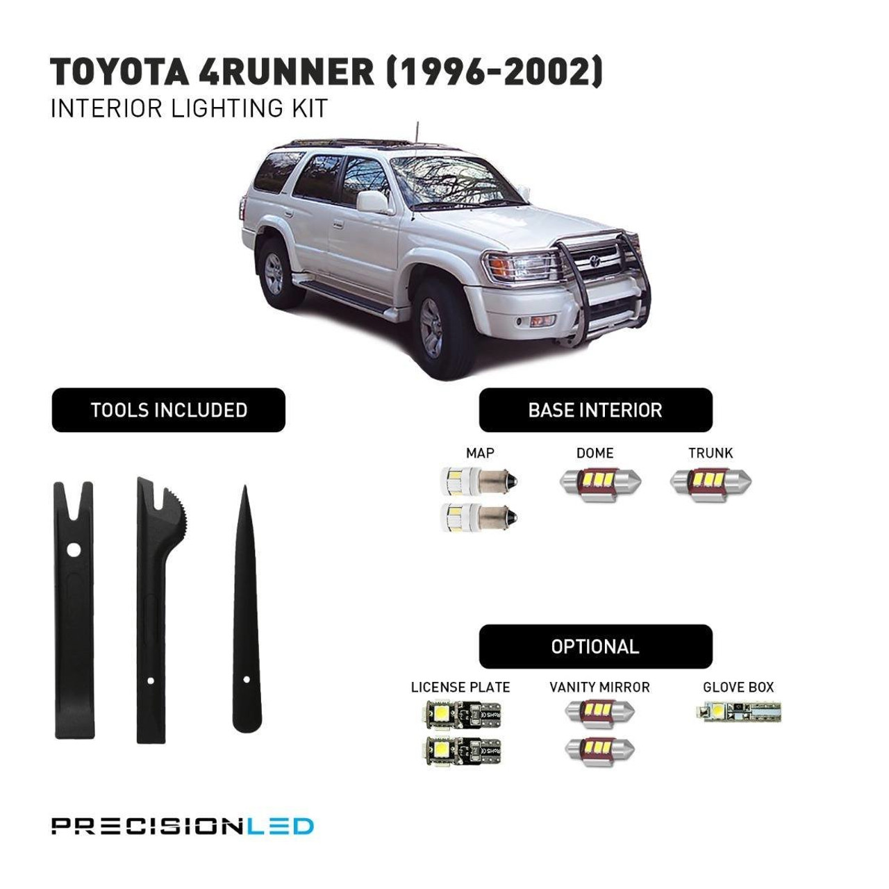 Toyota 4Runner Premium LED Interior Package (1996-2002)