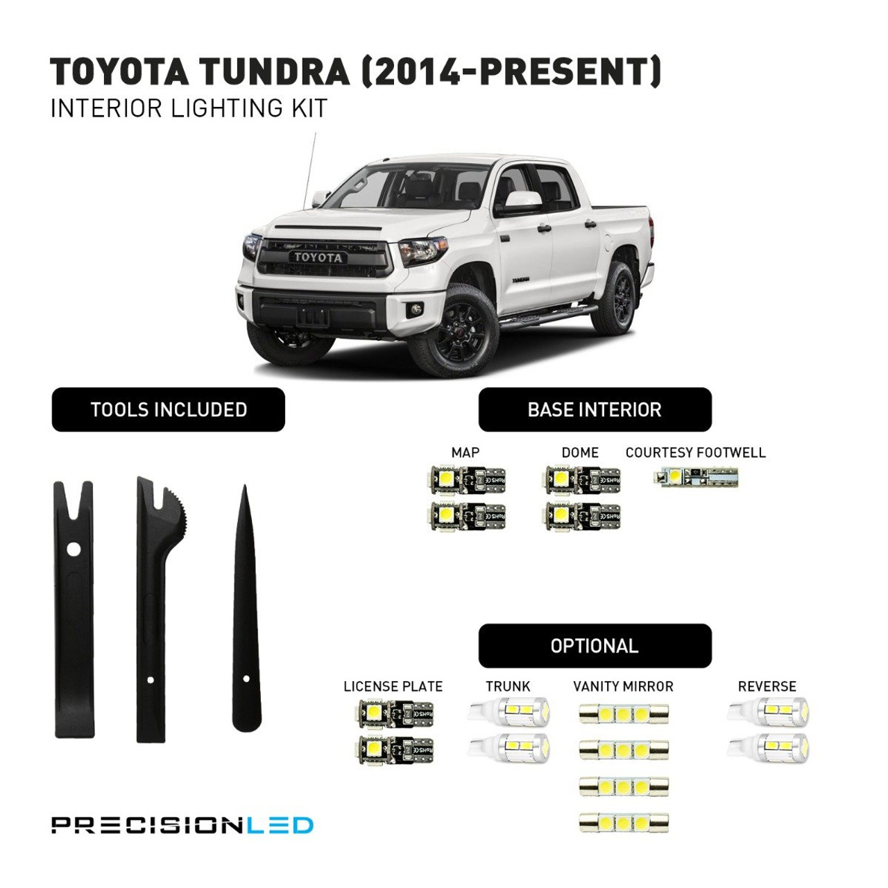 Toyota Tundra LED Interior Package (2014-Present)