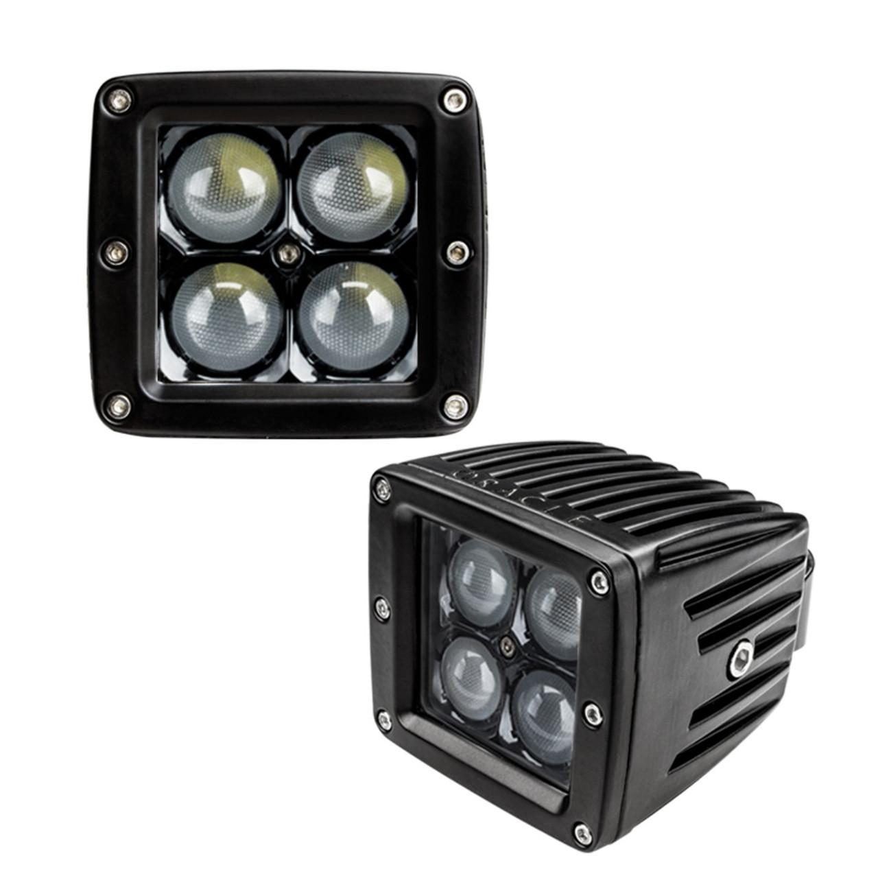 BLACK SERIES - 7D 3in 20W LED SQUARE SPOT/FLOOD LIGHT