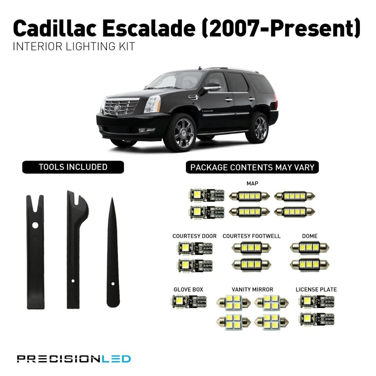 Cadillac Escalade LED Interior Package (2007-Present)