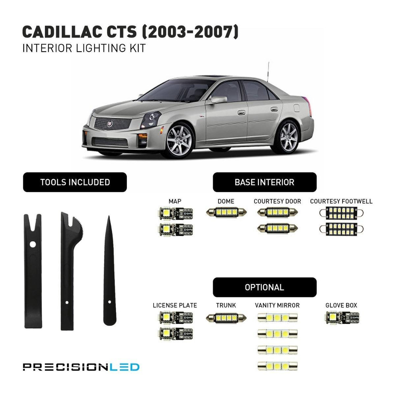 Cadillac CTS LED Interior Package (2003-2007)