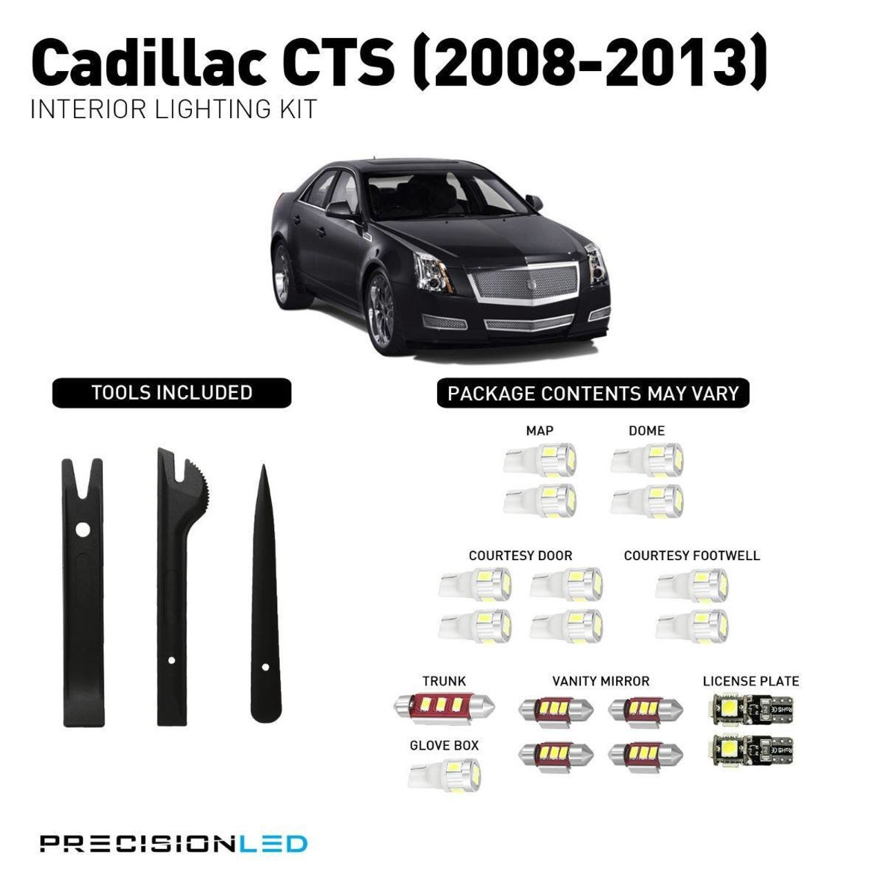 Cadillac CTS Premium LED Interior Package (2008-2013)