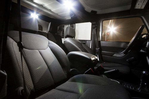Jeep Wrangler JK 4-Door LED Interior Package (2007-Present)
