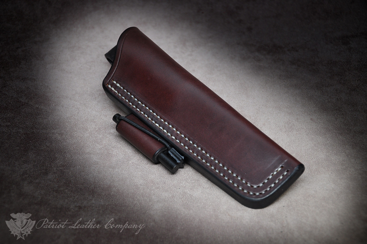 Bark River Gunny Series /'The Saratoga/' Custom Leather Bushcraft Sheath