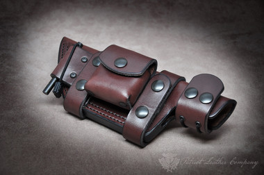 Tom Brown Tracker The Valley Massacre Scout Sheath Patriot Leather Company