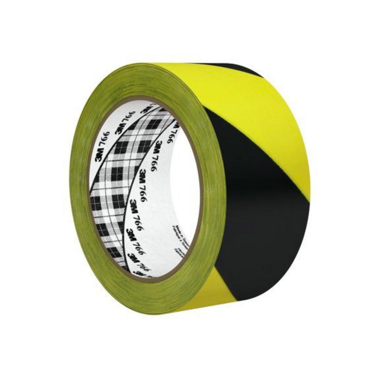 "3 Rolls Black /& Yellow Floor Marking Tape Safety Tape 2/"" x 36 yards"