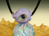 Glass Eye of the Octopus Pendant lampwork Boro Eyeball focal bead oddity by Eli Mazet VGW (ready to ship)