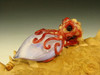 Art Glass Octopus Pendant lampwork focal bead Boro Eyeball oddity by Eli Mazet VGW (ready to ship)