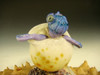 Hatching Sea turtle on a rock Sculpture Paperweight by Eli Mazet figurine Ocean Art ( Ready to Ship )