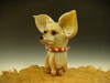 Glass Art Chihuahua Paperweight Sculpture Dog Figurine Contemporary by Mazet  (Ready to Ship)