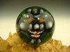 Art Glass Grey Goblin Marble Collectible Orb Sphere Monster Face Kaleb Folck (Ready to Ship)