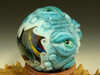 Huge  Double Dichroic Glass VORTEX MONSTER Marble Orb 7 Eyes oddity Eye Lampwork Art (ready to ship)