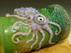 Hand blown Octopus Jar or Shot Glass Flameworked Art Octopus by Eli Mazet (Ready to Ship) Green/ Purple