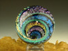 Full Dichroic Glass Vortex Illusion Marble ORB Fibonacci Spiral by Tim Mazet VGW (Ready to Ship)