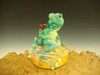 Glass Art Frog and  ladybug Paperweight by Mazet Lampwork sculpture VGW (ready to ship)