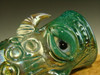 Hand blown Horny Face Shot Glass Eye freaky Gold and Silver Flameworked Bartender gift (ready to ship)