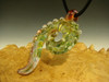 Art GLASS Ocean Wave PENDANT Textured Focal Lampworked Bead by KT (ready to ship)
