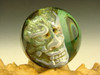 Phantom Japanese Oni Glass Art Marble by 3/D Orb Demon monster by Elly. (ready to ship).