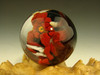 Red Devil Glass Marble Collectible Oddity Orb Sphere Monster Diety by Kaleb Folck (ready to ship)