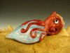 Art Glass Octopus Pendant lampwork focal bead Boro Eyeball oddity by Eli Mazet VGW (ready to ship) Red