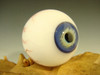 Glass Art Eyeball Marble Creepy Eye Oddity orb with veins #7 by Kenny Talamas  (ready to ship) Halloween Decor