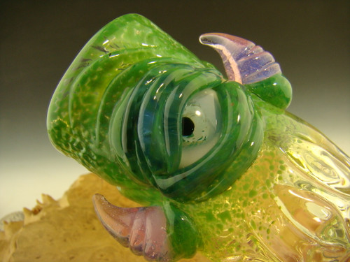Blown Glass Horny Eye Monster Jar By Mazet