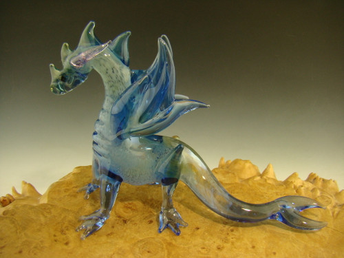 Glass Art Dragon sculpture figurine By mazet