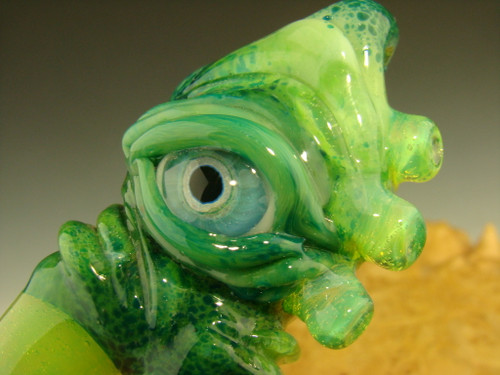 Glass 'Eye of the Creature' Claw Pendant Focal Bead Necklace by Mazet