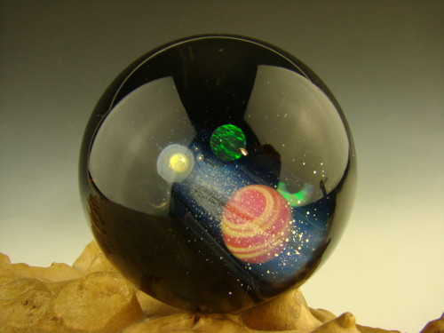 Glass Space Scene Art Marble by KIMMO