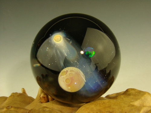 "1.6"" Glass Space Scene Art Marble by KIMMO"