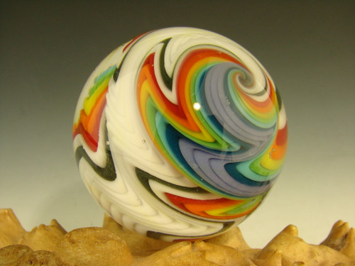 UV reactive Glass Wig wag Vortex marble by  Bryan Trillas