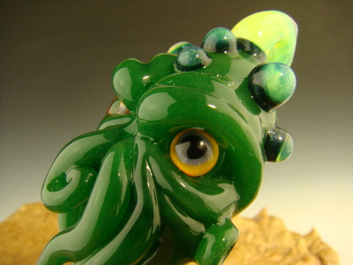 Glass Cthulhu inspired Pendant Necklace By Kenny Talamas