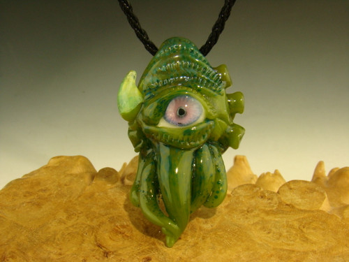 Glass 'Eye of the Squid' Pendant Cthulhu inspired necklace by Mazet