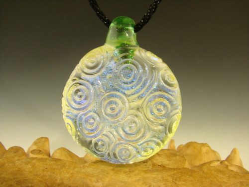 Glass Dichroic Pendant Focal Bead Necklace By Mazet