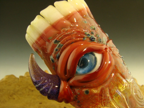 Hand Blown Glass Eyeball with Teeth Shot Glass By Mazet