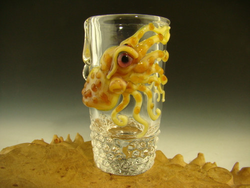 Hand blown shot glass by Eli Mazet