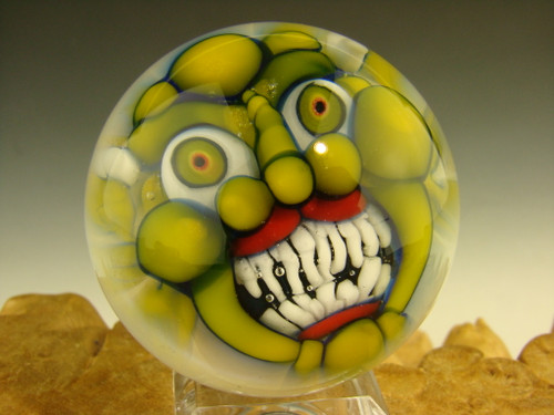 Glass Goblin marble by Kaleb Folck