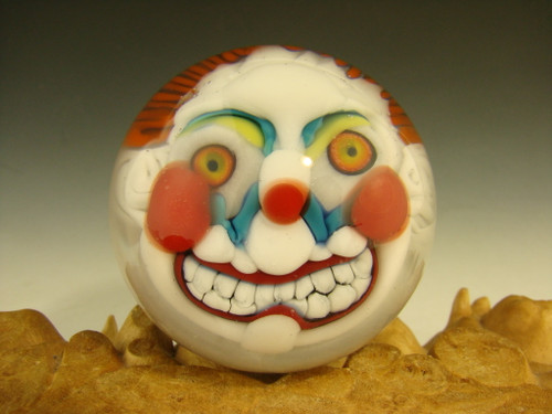 Glass Clown Marble by Kaleb Folck