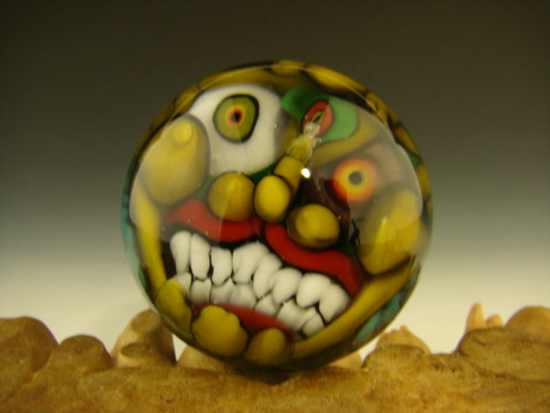 Goblin Art Glass Marble by Kaleb Folck