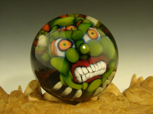 Goblin Art Glass Marble by Klaeb Folck