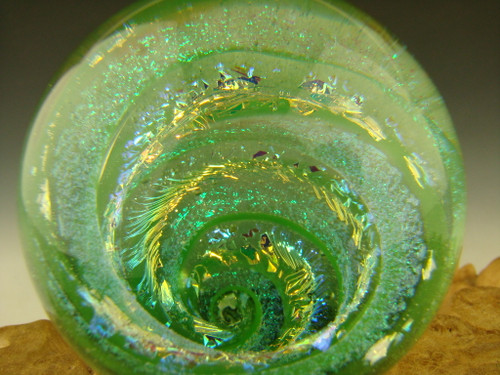 Dichroic Glass Vortex marble Collectible glass by Mazet