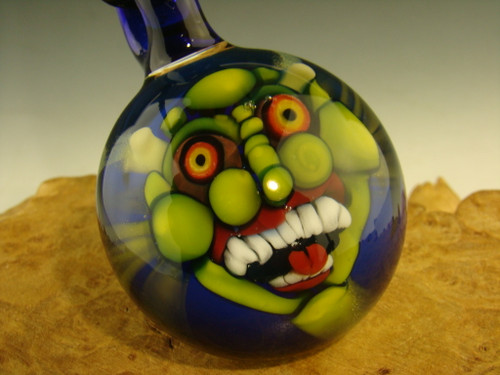 Glass Goblin pendant eye focal bead by Kaleb Folck