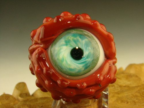 "1.2"" Glass Art Eyeball Marble Eye by Eli Mazet"