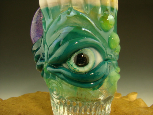 Hand blown Horned Shot Glass with Teeth by mazet